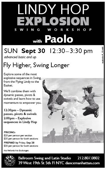 Lindy Hop Explosion with Paolo NYC